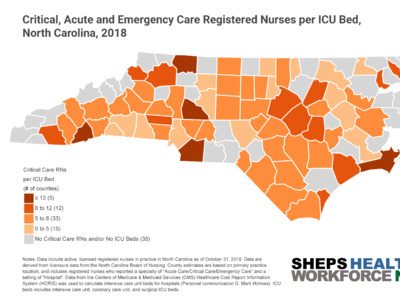 North Carolina's Supply of Critical Care Nurses are Crucial to the State's COVID-19 Response